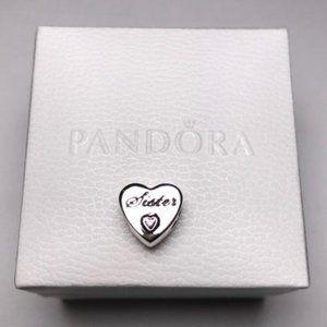 PANDORA Sister Heart Charm